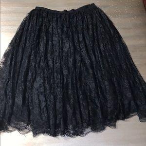 Max studio Black lace skirt